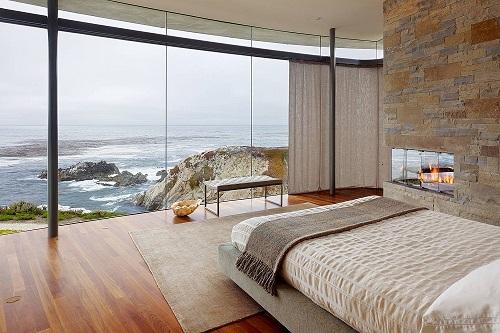 phòng ngủ sang trọng nhờ vách kính cường lực - thiên an phát